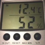 relative humidity after dehumidifier