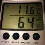 relative humidity before dehumidifier