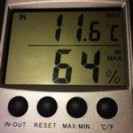 relative humidity before dehumidifier
