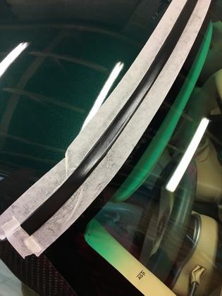 blacking rubber trim