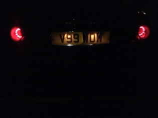 cerbera rear number plate light before