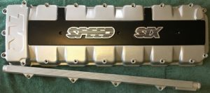 powder coated rocker cover and fuel rail