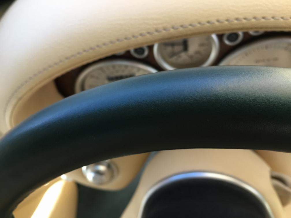tvr cerbera steering wheel re-trim close up
