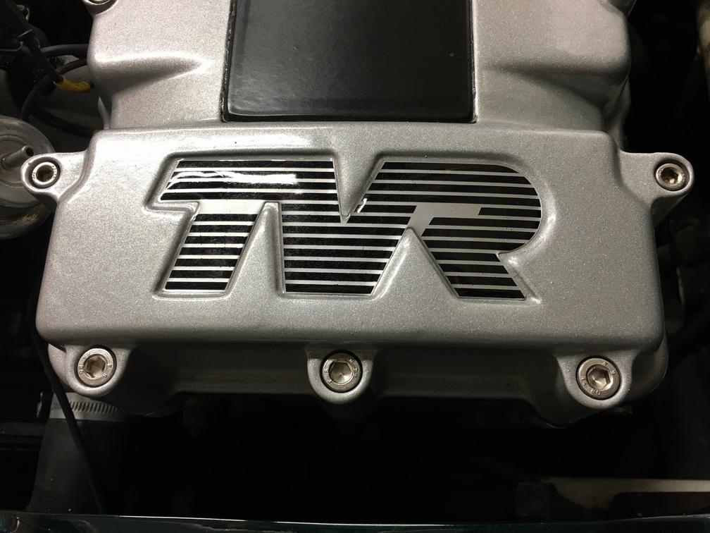 TVR Cerbera rocker cover logo