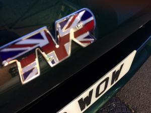 union jack TVR bonnet badge