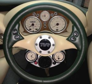 Steering wheel re-trimmed